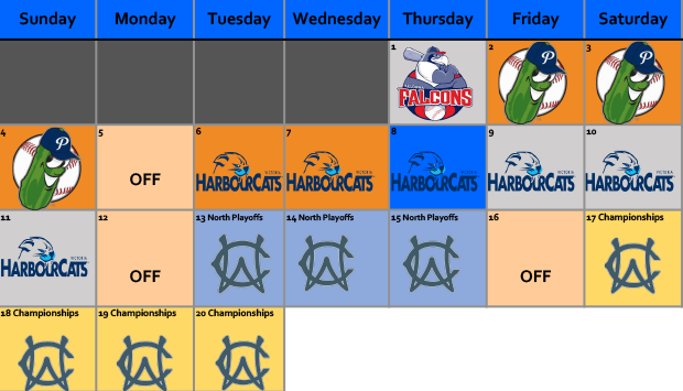 august 2019 lefties schedule