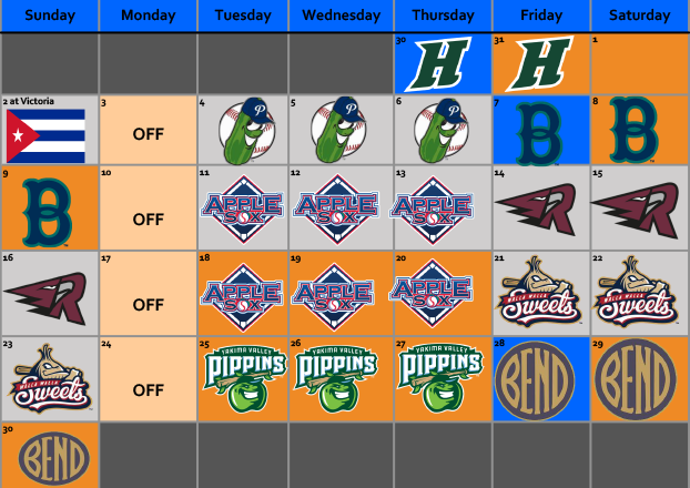 may and june 2019 lefties schedule