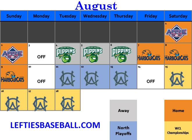 August 2020 Schedule
