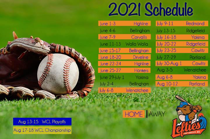 2021 Port Angeles Lefties Schedule
