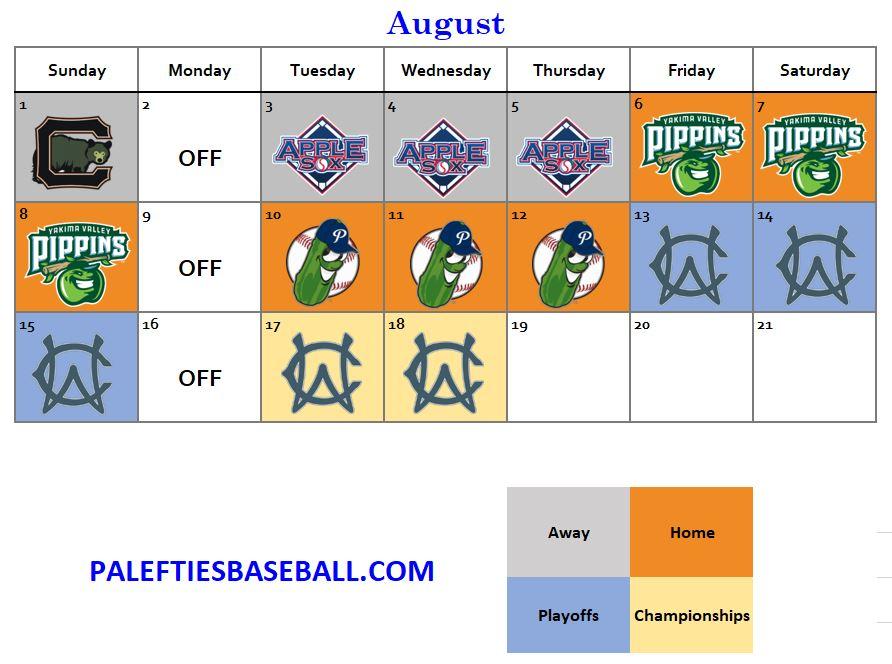 august 2021 lefties schedule
