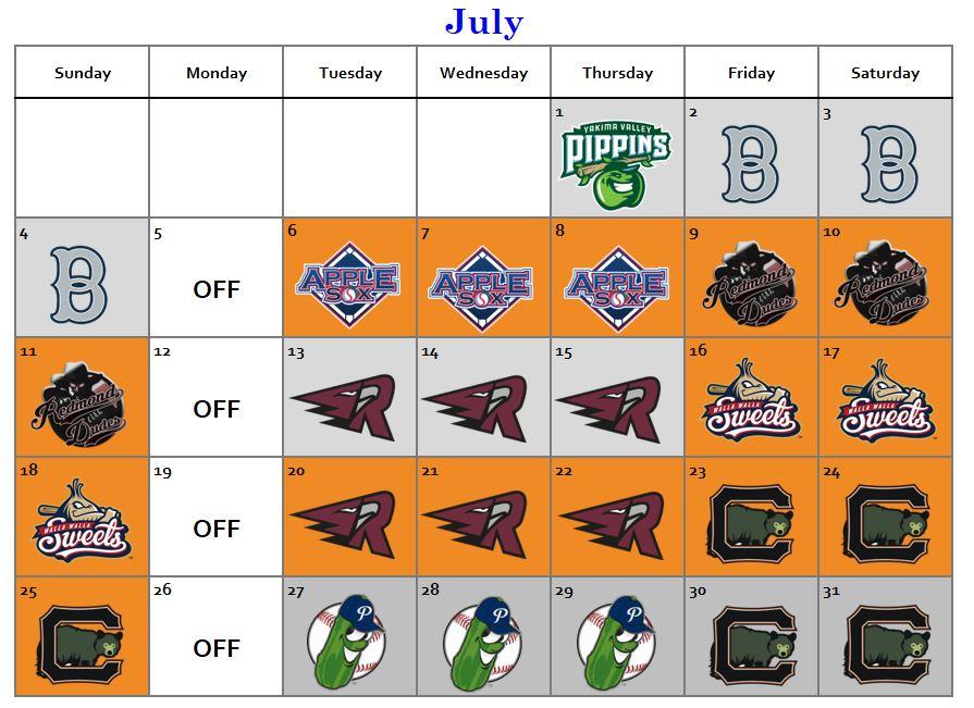 july 2021 lefties schedule